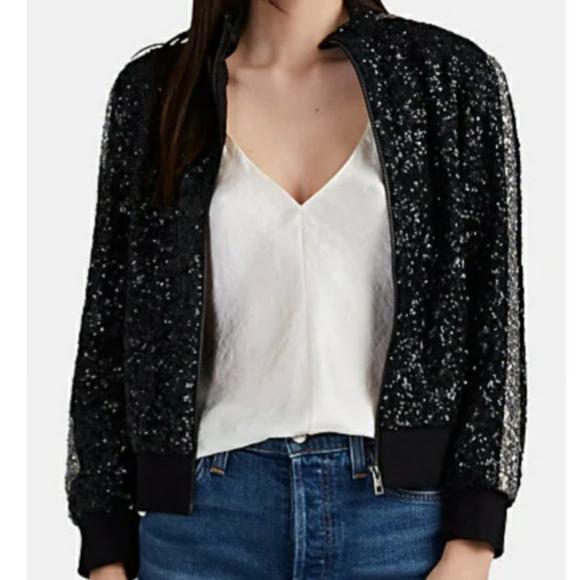 Zadig & Voltaire Jackets & Blazers - Black Sequin Bomber Jacket
